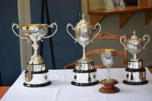 The Peroni Sorrento Cup trophies.